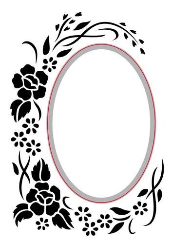 Nellie Snellen (Hobby Solution) Embossing - Die Cut Folder - oval - floral