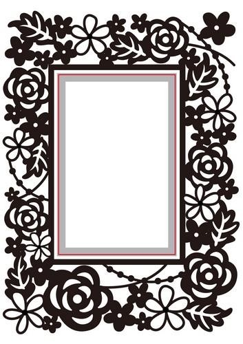 Nellie Snellen (Hobby Solution) Embossing - Die Cut Folder - rectangle - floral