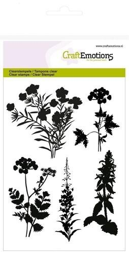 Craft Emotions Clearstamps - silhouette roadside plants