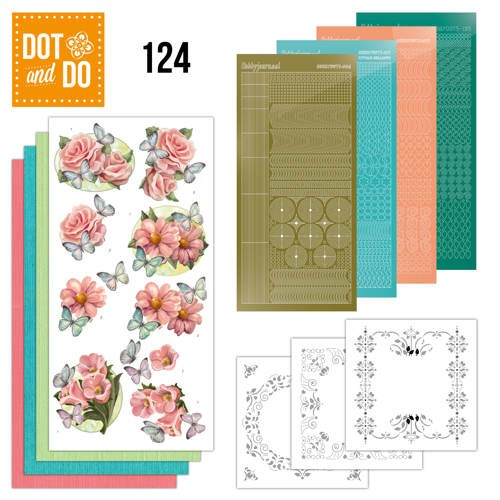 Dot & Do Hobbydots Pakket - pink flowers and butterflies