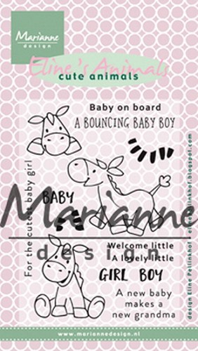 Clearstamps Marianne Design - Eline`s Cute Animals - zebra en ezel