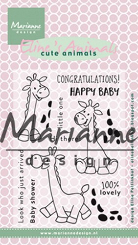 Clearstamps Marianne Design - Eline`s Cute Animals - giraf