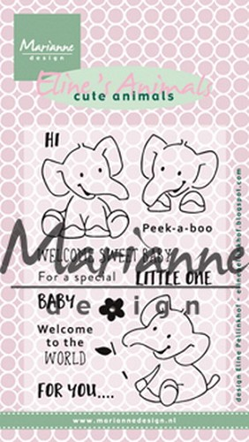 Clearstamps Marianne Design - Eline`s Cute Animals - olifant
