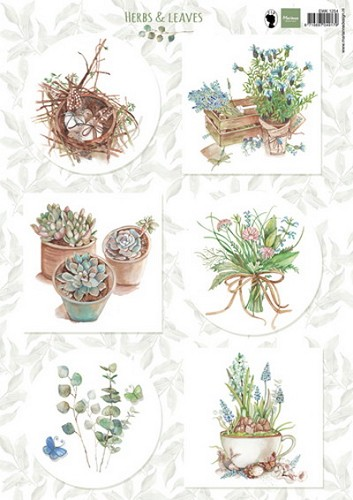 Knipvel Marianne Design - Herbs & Leaves 1
