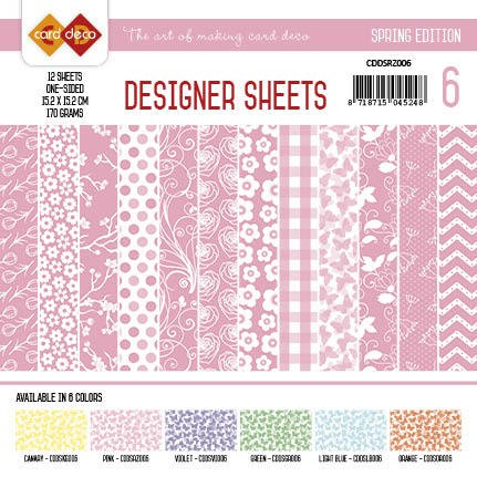 Card Deco Designer Sheets - Spring Edition - roze
