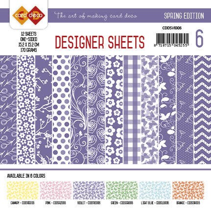 Card Deco Designer Sheets - Spring Edition - violet