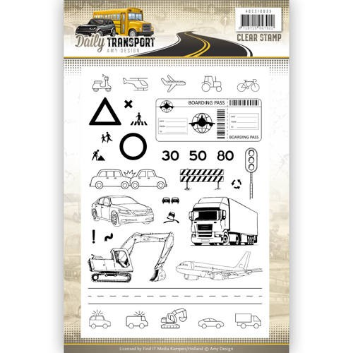 Clearstamps Amy Design - Daily Transport