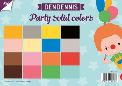 Joy Paper Pack - Dendennis Party - solid colors