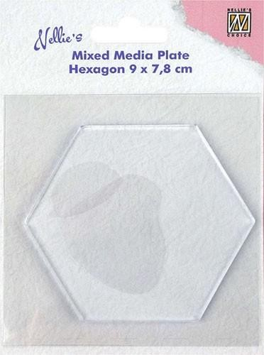 Nellie Snellen Mixed Media Plate - hexagon