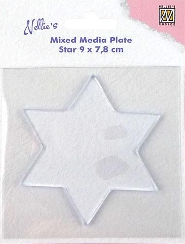 Nellie Snellen Mixed Media Plate - star