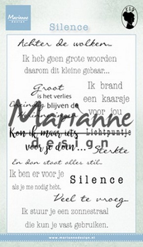 Marianne Design Clearstamps - Silence
