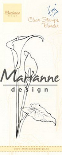 Marianne Design Clearstamp - Tiny`s Border - callas