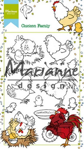 Marianne Design Clearstamp - Hetty`s Chicken Family