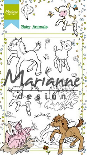 Marianne Design Clearstamp - Hetty`s Baby Animals