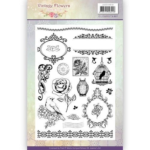 Clearstamps Jeanine`s Art - Vintage Flowers