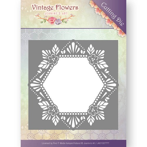 Jeanine`s Art Stans - Vintage Flowers - floral hexagon