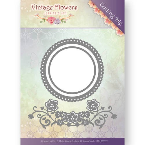 Jeanine`s Art Stans - Vintage Flowers - flowers and circles