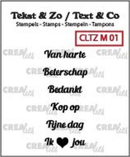 Crealies Clearstamps - Tekst & Zo 130505/2401