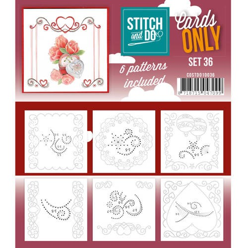 Stitch and Do Cards Only - set 36
