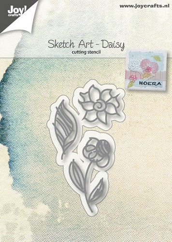 Joy Stencil - Sketch Art - daisy