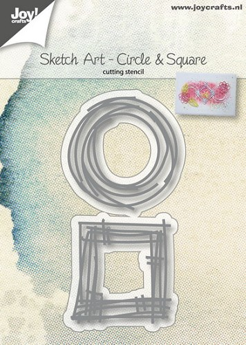 Joy Stencil - Sketch Art - circle & square