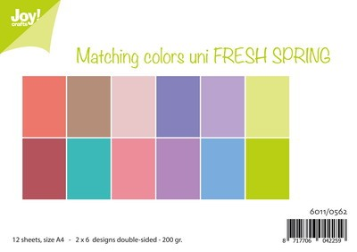 Joy Paper Pack - Matching Colors Uni - Fresh Spring