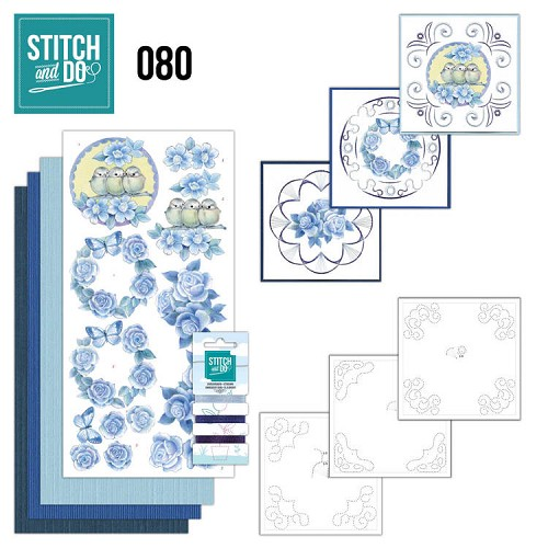 Stitch and Do Pakket - vintage bloemen