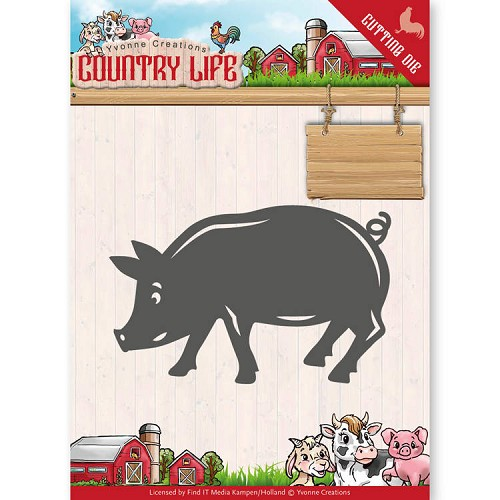 Yvonne Creations Stans - Country Life - pig