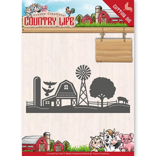 Yvonne Creations Stans - Country Life - farm border