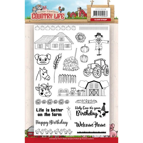 Clearstamps Yvonne Creations - Country Life