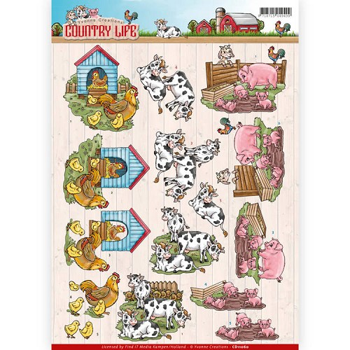 Knipvel Yvonne Creations - Country Life CD11060