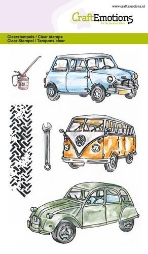 Craft Emotions Clearstamps - classic cars 1