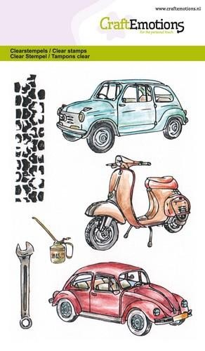 Craft Emotions Clearstamps - classic cars 2