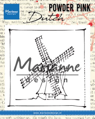 Clearstamp Marianne Design - Powder Pink - molen