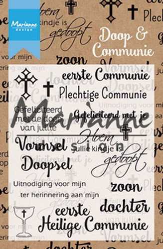Clearstamps Marianne Design - doop en communie