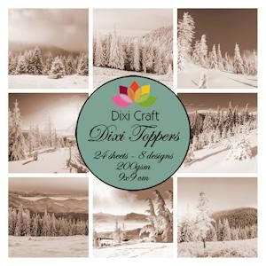 Dixi Craft Toppers - Winter Landschappen - sepia