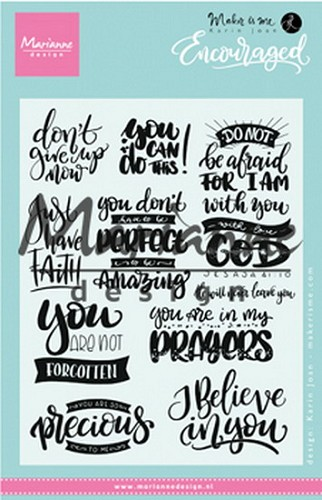 Marianne Design Clearstamps - encouraged