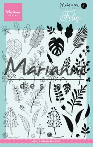 Marianne Design Clearstamps - folia
