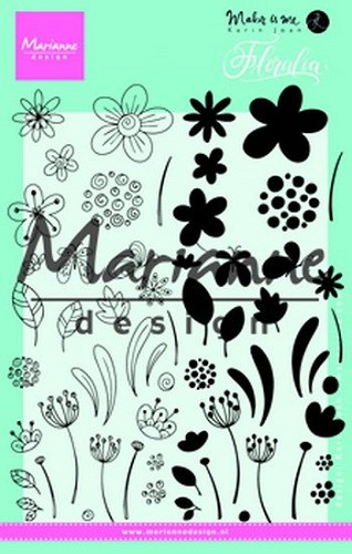 Marianne Design Clearstamps - floralia