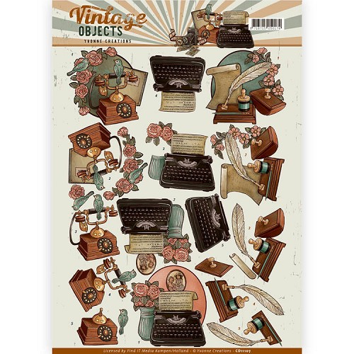 Knipvel Yvonne Creations - Vintage Objects CD11107
