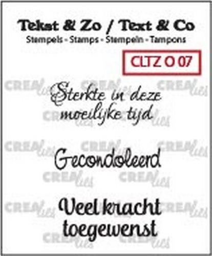Crealies Clearstamp - Tekst & Zo 07
