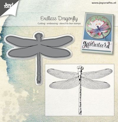 Joy Clearstamp met Stans - dragonfly