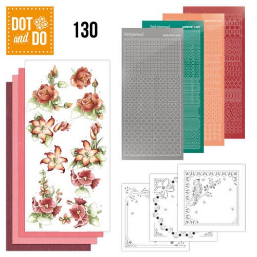 Dot & Do Hobbydots Pakket - timeless red flowers