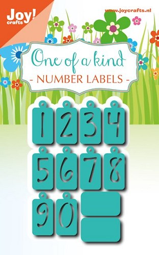 Joy Stencil - One of a Kind - number labels