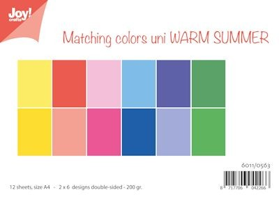 Joy Paper Pack - Matching Colors Uni - warm summer