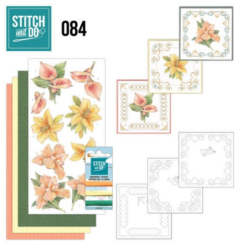 Stitch and Do Pakket - yellow flowers