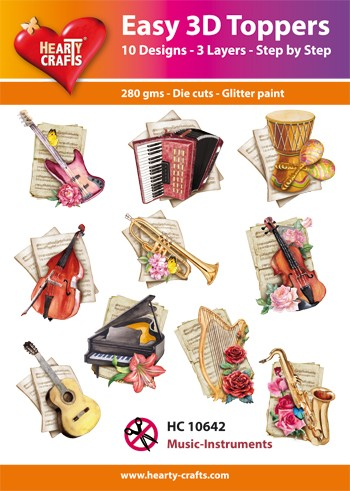 Easy 3D Toppers - Music Instruments