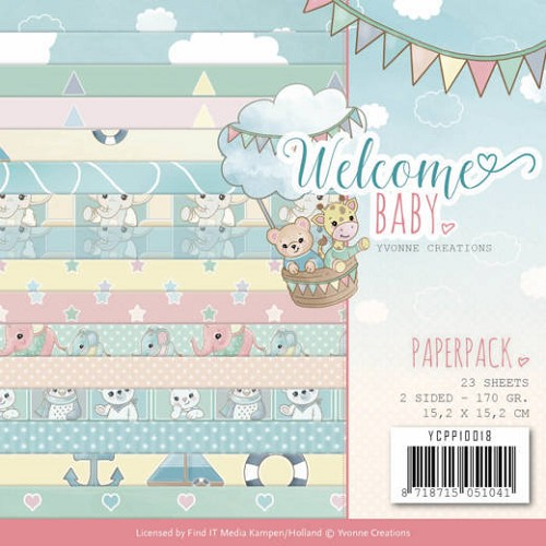 Paper Pack Yvonne Creations - Welcome Baby