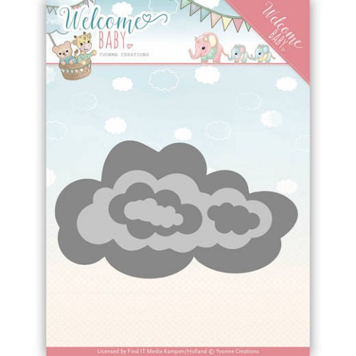 Yvonne Creations Stans - Welcome Baby - nesting clouds