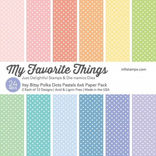 My Favorite Things Paper Pad - Itsy Bitsy Polka Dots Pastels